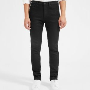 Everlane The Straight Fit Washed Black Jeans